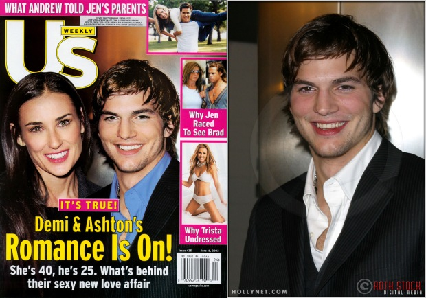 Us Weekly Cover of Ashton Kutcher from the Premiere Screening of Just Married