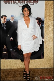 "Emmanuelle Chriqui at the Los Angeles Premiere of Season Seven of the HBO Original Series ""Entourage"""