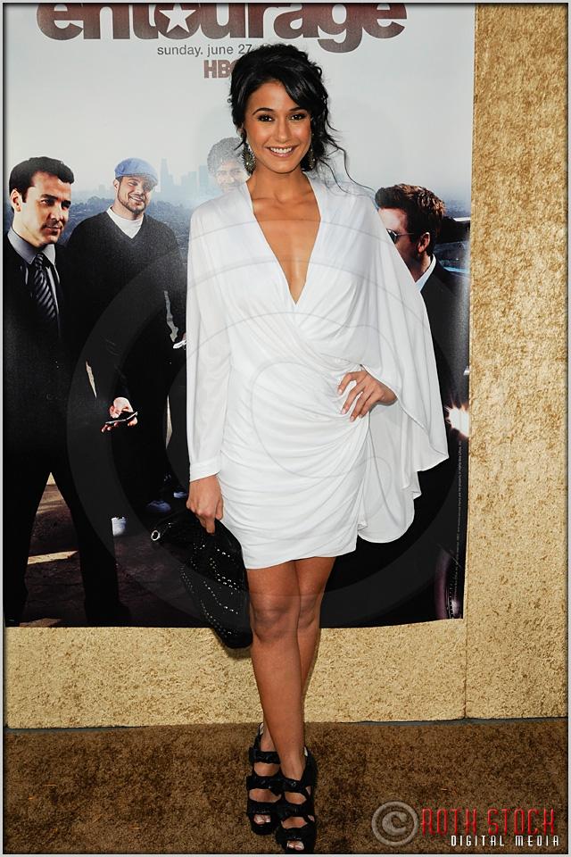 "Emmanuelle Chriqui at the Los Angeles Premiere of Season Seven of the HBO Original Series ""Entourage"""