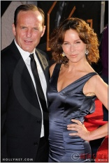 """Clark Gregg and Jennifer Grey at the World Premiere of """"Iron Man 2"""""""