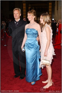 Sting with Trudie Styler and daughter at the 76th Annual Academy Awards®