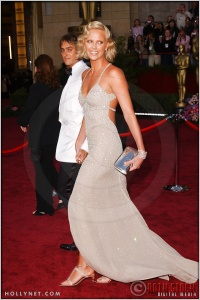 Charlize Theron and Stuart Townsend at the 76th Annual Academy Awards®
