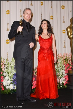 Tim Robbins and Catherine Zeta-Jones in the Press Room at the 76th Annual Academy Awards®
