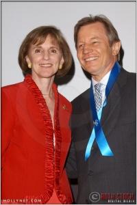 Gillian Sorensen and Michael York