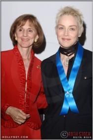 Gillian Sorensen and Sharon Stone