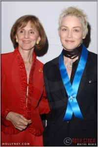 Gillian Sorensen and Sharon Stone