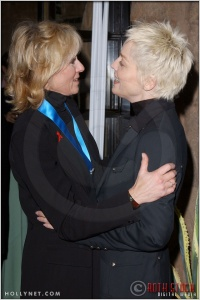 Judith Light and Sharon Stone