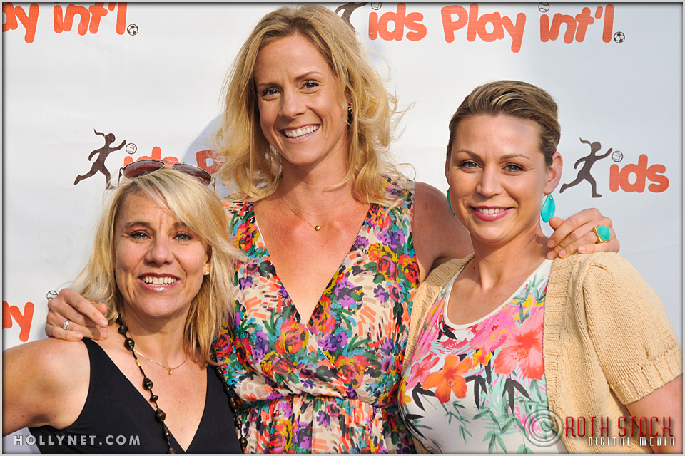 Olympians Tracy Evans, Jaime Komer with former Professional Scoccer Player Anne Poulin at Kids Play International Founder Tracy Evans with Jaime Komer and Anne Poulin
