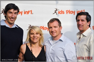 Matt Komer, Olympic Athlete Tracy Evans, Michael Land and Jeff Bonafede at Kids Play International's 4th Annual Cocktails For A Cause
