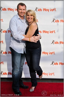 Michael Land and Olympian Tracy Evans at Kids Play International's 4th Annual Cocktails For A Cause