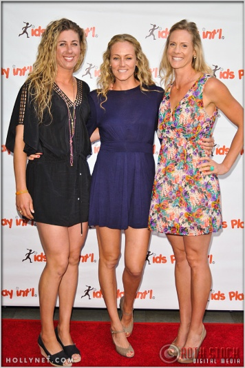 Olympians April Ross, Jen Kessy and Jaime Komer at Kids Play International's 4th Annual Cocktails For A Cause