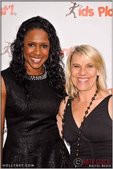 Olympians Tasha Danvers and Tracy Evans at Kids Play International's 4th Annual Cocktails For A Cause