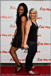 Olympians Tasha Danvers and Tracy Evans at at Kids Play International's 4th Annual Cocktails For A Cause