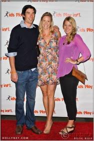 Matt Komer, Jaime Komer and Megan Strawther at Kids Play International's 4th Annual Cocktails For A Cause