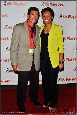 Olympic Athlete Angela Hucles and Guest at Kids Play International's 4th Annual Cocktails For A Cause