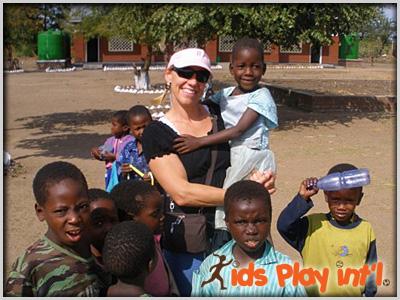 Tracy Evans helping kids in Rwanda