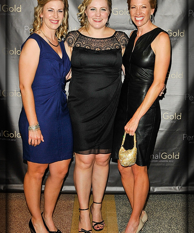 Olympians Sarah Hammer, Jennie Reed and Dotsie Bausch