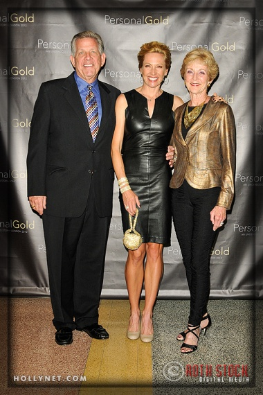 Olympian Dotsie Bausch (center) with Paul Cowden and Margie Cowden