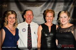 Olympians Sarah Hammer, Dotsie Bausch and Jennie Reed with Doug Thralls and Penny Thralls