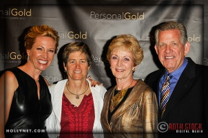 Olympian Dotsie Bausch with Jill Gass, Margie Cowden and Paul Cowden
