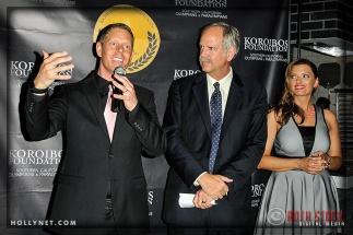 Olympians Sky Christopherson, John Naber and Tamara Christopherson