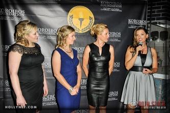 Olympians Jennie Reed, Sarah Hammer, Dotsie Bausch and Tamara Christopherson