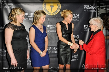 Olympians Jennie Reed, Sarah Hammer, Dotsie Bausch and Pat McCormick