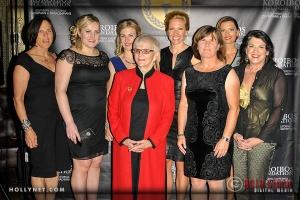 Olympians Jan Palchikoff, Jennie Reed, Sarah Hammer, Pat McCormick, Dotsie Bausch, Connie Paraskevin, Tamara Christopherson, Cathy Marino