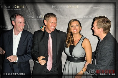 Michael Morris, Olympians Sky Christopherson and Tamara Christopherson with Kyle Carpenter