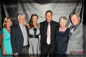 Jan Bartlett , Mark McCulley with Olympians Sky and Tamara Christopherson and Marcia and David Christopherson