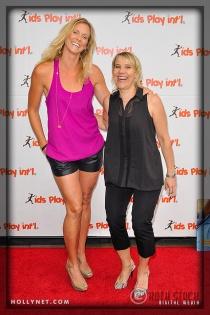 Olympians Jaime Komer and Tracy Evans