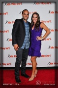 LA Galaxy's Landon Donovan and Hanna Bartell