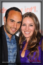 LA Galaxy's Landon Donovan and Hanna Bartell