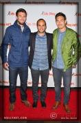 LA Galaxy's Tommy Meyer, Landon Donovan and Stefan Ishizaki