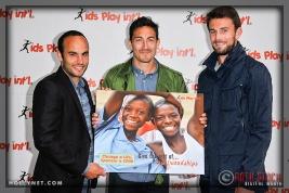LA Galaxy's Landon Donovan, Stefan Ishizaki and Tommy Myer