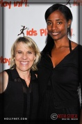 Olympian Tracy Evans and Volunteer Tiffany Warren