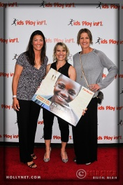 Pro Beach Volleyball Players Liz Masakayan and Brittany Hochevar with Olympian Tracy Evans (c)