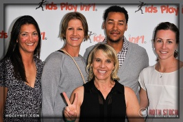 Pro Beach Volleyball Players Liz Masakayan and Brittany Hochevar with Olympians Tracy Evans, Giddeon Massie and Guest