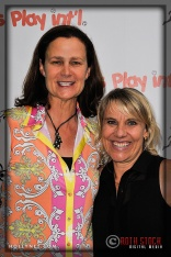 International Tennis Hall of Famer Pam Shriver and Olympian Tracy Evans