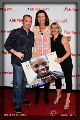 Michael Land with International Tennis Hall of Famer Pam Shriver and Olympian Tracy Evans
