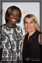Olympians Dawn Harper and Tracy Evans