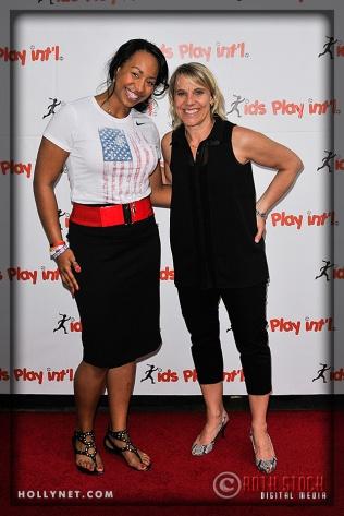 Olympians Jazmine Fenlator and Tracy Evans