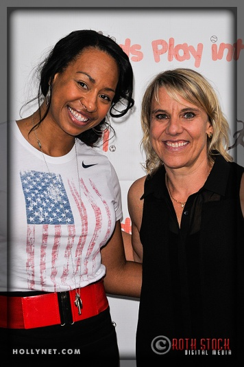 Olympians Jazmine Fenlator and Tracy Evans