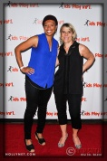 Olympians Angela Hucles and Tracy Evans