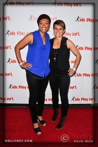 Olympian Angela Hucles and Meg Mangano