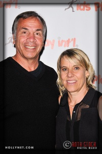 LA Galaxy's Bruce Arena and Olympian Tracy Evans