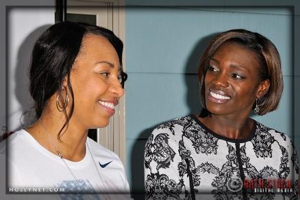 Olympians Jazmine Fenlator and Dawn Harper