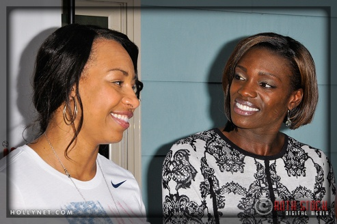 Olympians Jazmine Fenlator and Dawn Harper