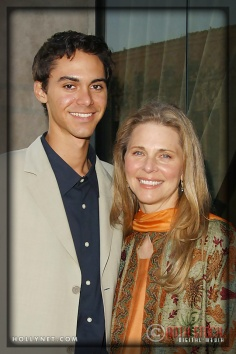 Lindsay Wagner and son Dorian Kingi