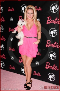 Aubry O'Day attends Barbie's 50th Birthday Party at her Real-Life Malibu Dream House